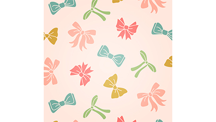 Color bow seamless background vector