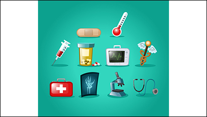 10 beautifully designed medical icon vector material